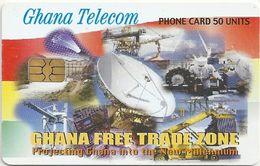 Ghana - Ghana Telecom - Free Trade Zone - 12.02, Axalto02, 50U, 1.300.000ex, Used - Ghana