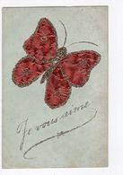 """7 - AMITIE  -  """" Je Vous Aime """" - Papillon    *paillettes* Très Lumineux* *Edit. W.B.L.* - Cartes Postales"""