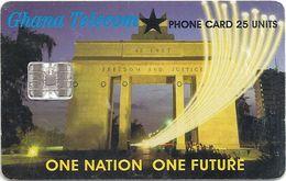 Ghana - Ghana Telecom - One Nation, One Future - 04.01, 25U, 620.000ex, Used - Ghana