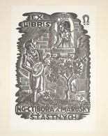 Ex-libris Moderne Illustré XXème - ING-CTIBORA A MARUSKY STASTNYCH - Ex-libris