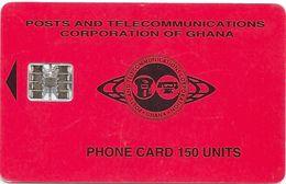 Ghana - P&T - Red Small Logo, 150U, 10.96, SC7, 50.000ex, Used - Ghana