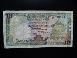 SRI LANKA : 10 RUPEES   21.11.1988   P 96b    TTB - Sri Lanka