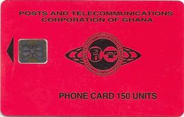 Ghana - P&T - Red Small Logo, 150U, 08.95, SC5, 50.000ex, Used - Ghana