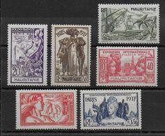 EXPO 37 - MAURITANIE - YVERT N°66/71 ** SANS CHARNIERE - COTE = 12.5 EUROS - - 1937 Exposition Internationale De Paris