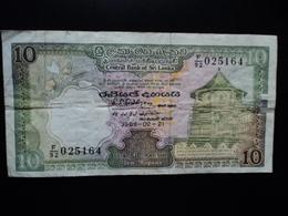 SRI LANKA : 10 RUPEES   21.02.1989   P 96c     TTB - Sri Lanka