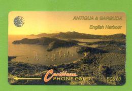 "ANTIGUA & BARBUDA: 1993 ANT-9A ""English Harbour"" New Logo. EC $60 CN:9CATA. Rare (15.000ex). Used - Antigua And Barbuda"