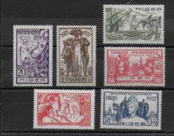 EXPO 37 - NIGER - YVERT N°57/62 * CHARNIERE LEGERE - COTE = 13 EUROS - - 1937 Exposition Internationale De Paris