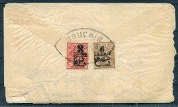 Persia Iran Bouchir Provisional Overprints Cover + Letter - Iran