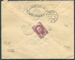 1937 Irean Persia Banque Mellie Registered Cover - Gera, Germany. Bank Brief - Iran