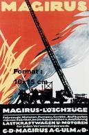 Reproduction D'une Photographie D'une Affiche Publicitaire Pour Les Véhicules De Pompier Magirus-Loschzuge - Reproductions