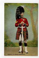SERGEANT, 79th Cameron Highlanders, UK Military Unit, Tartan, Pre-1920 Postcard - Régiments