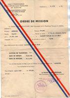 VP11.926 - MILITARIA - 1950 - Autriche - Ordre De Mission Caporal LAVEDRIME Au 6 ème Bataillon De Chasseurs Alpins - Dokumente