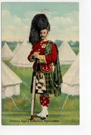 SERGEANT, Argyll & Sutherland Highlanders, UK Military Unit, Tartan, Pre-1920 Postcard - Régiments
