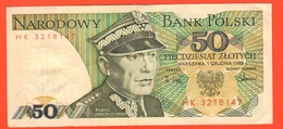 Polonia Polska Poland 50 Zloty 1988 KAROL SWIERCZEWSKI - Poland