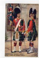 Captain & Subaltern Officer, GORDON HIGHLANDERS, UK Military Unit, Tartan, Pre-1920 Postcard S/A Harry Payne - Régiments