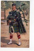 GORDON HIGHLANDERS, Bag Piper, UK Military Unit, Tartan, Pre-1920 Postcard S/A Harry Payne - Régiments