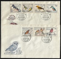 CSSR 1959 Birds Mi. 1163 -69 Yv. 1046 -52 Auf 2 FDC - FDC