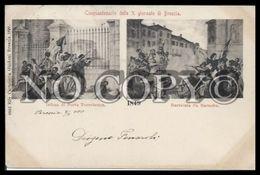 BRESCIA Cinquantenario X Giornate Viaggiata 1900 - Brescia