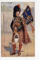 THE BLACK WATCH, Bag Piper, UK Military Unit, Tartan, Pre-1920 Postcard S/A Harry Payne - Régiments