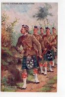 ARGYLL & SUTHERLAND, A Reconnoitering Patrol, UK Military Unit, Tartan, Pre-1920 Postcard S/A Harry Payne - Régiments