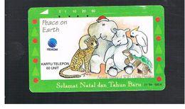 INDONESIA - TELKOM  -   PEACE ON EARTH, COMICS                                      - USED - RIF.10367 - Indonesia
