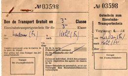 VP11.930 - MILITARIA -1950 - Autriche - Bon De Transport Par Chemin De Fer Caporal LAVEDRIME - Transportation Tickets