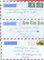 Algeria 1993.Tree Envelope Passed The Mail. Airmail. - Algeria (1962-...)