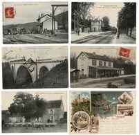 30 CP N°35 Trains(JONCHERY/VESLE_AISEY/SEINE_OLORON Ste MARIE )+Transport Bois Attelage Boeuf + Usines + Divers - Cartes Postales
