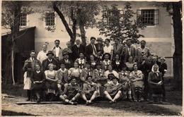 Carte Photo Originale Musique & Musiciens Autrichien & Lederhose Pour Guitare, Violon & Accordéon Grünburg O.Ö 1935 - Objects