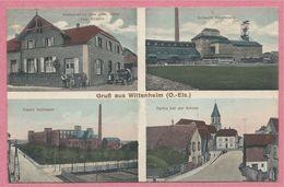 68 - GRUSS Aus WITTENHEIM - Restauration Zum Gold. Adler - Schacht Reichsland - Fabrik KULLMANN - Mines De Potasse - Wittenheim