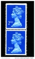 GREAT BRITAIN - 1989  MACHIN  2nd.  LITHO  PAIR IMPERF. TOP & BOTTOM  MINT NH  SG  X1449 - 1952-.... (Elisabetta II)