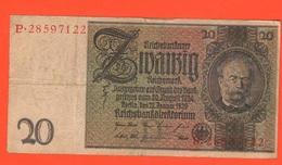 20 Reichsmark 1929 Deutschland German Note - [ 3] 1918-1933 : Weimar Republic