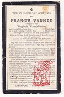 DP Francis Van Hee ° Bekegem Ichtegem 1849 † 1923 X Virginie VanMiddelem - Devotion Images