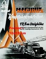 Reproduction D'une Photographie D'une Affiche Publicitaire Des Camions De Pompier à échelle Magirus - Reproductions
