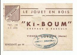 CARTE DE VISITE JOUETS EN BOIS VIENNE LE CHATEAU (marne) - Cartes De Visite