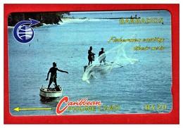 """BARBADOS: 1992 BAR-7B """"Fisherman"""" Old Logo B$ 20 CN: 7CBDB Rare (10.000ex) Used - Barbades"""