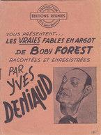 Vraies Fables En Argot Paroles De Boby Forest Par Yves Deniaud  Fables De Jean De La Fontaine Editions Réunies - Poetry