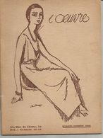 Programme De L'OEUVRE - 43e Année - Pièce LES VACHES MAIGRES - Saison 1935-1936 - Programs
