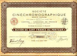 SOCIETE CINECHROMOGRAPHIQUE PARIS 1930 B.E.VOIR SCANS - Cinéma & Théatre