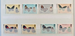 BELIZE 1975-8 SG 403-13 SET OF 9  BUTTERFLIES  PLUS SHADE ON 5C AND 35C MNH - Butterflies