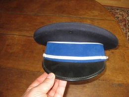 F308 CASQUETTE POLICE BANDEAU BLEU - Copricapi