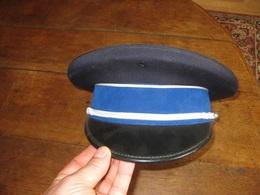 F308 CASQUETTE POLICE BANDEAU BLEU - Headpieces, Headdresses