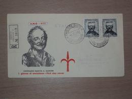TRIESTE AMG-FTT AMG FTT ITALIA BUSTA PRIMO GIORNO FDC F.D.C. RACCOMANDATA REALMENTE VIAGGIATA 1952 ANTONIO MANCINI - 7. Triest
