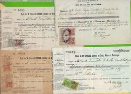 Lot De Timbres FISCAUX  Lot 11  Sur Documents  10c+50c + 20c +75c A Verifier Selon Lot - Fiscaux
