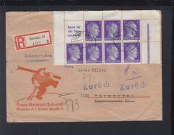 Dt. Reich Brief 1944 Dresden Nach Pirmasens Zurück ZD - Briefe U. Dokumente