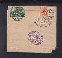 Dt. Reich Streifband 1922 Hamburg - Deutschland