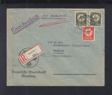 Dt. Reich Bayerische Staatsbank R_Brief Mit Rückschein 1940 - Dienstpost