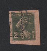 MAGNIFIQUE N°278 2 C SEMEUSE PIQUAGE DECALE - Curiosità: 1931-40 Usati