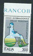 Italia, Italy 1981; Anno Internazionale Degli Handicappati, Year Of The Handicapped = Disabled People. Bordo, Nuovo. - Handicap