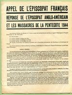 "WW2 : "" TRACT 39-45 COLLABORATION - PROPAGANDE - PETAIN - L.V.F. - Documents Historiques"